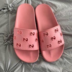 Pink Gucci slide